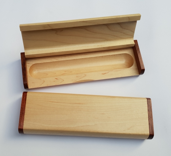 Rosewood and Maple Oversized Pen Case