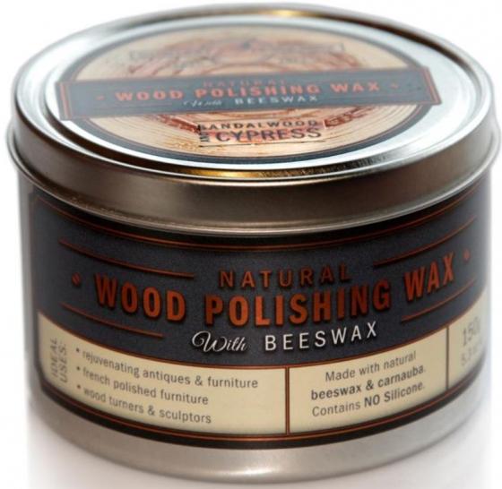 Wood Polishing Wax with Beeswax – Sandalwood & Cypress